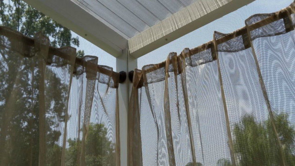 outdoor curtains rods photo - 5