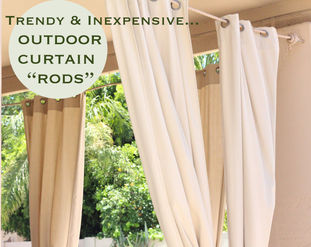 outdoor curtains rods photo - 6