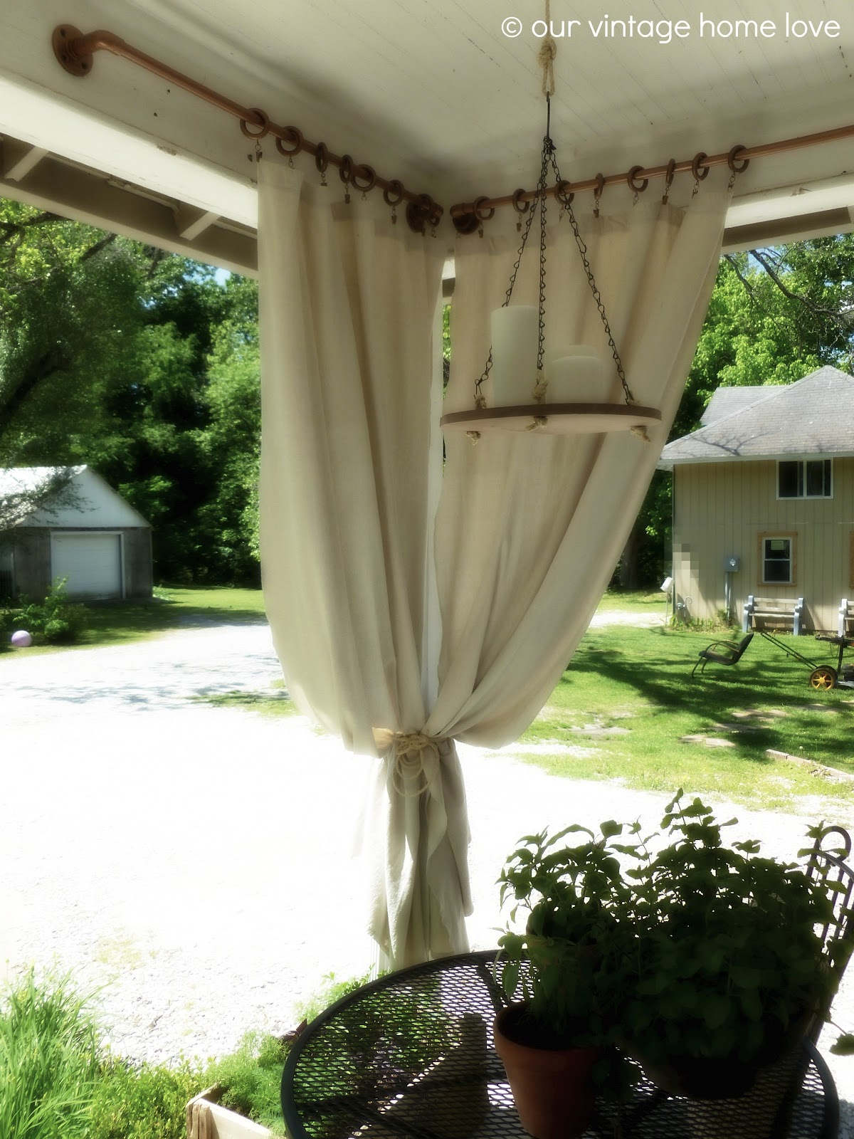 outdoor curtains rods photo - 7