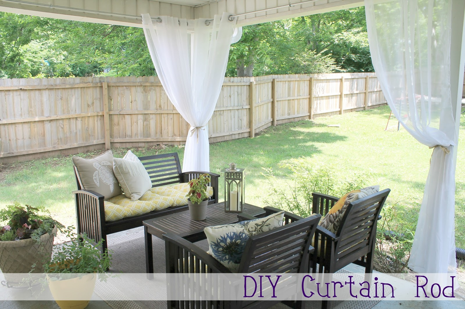 outdoor curtains rods photo - 8