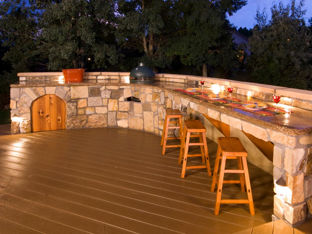 outdoor deck bar designs photo - 1