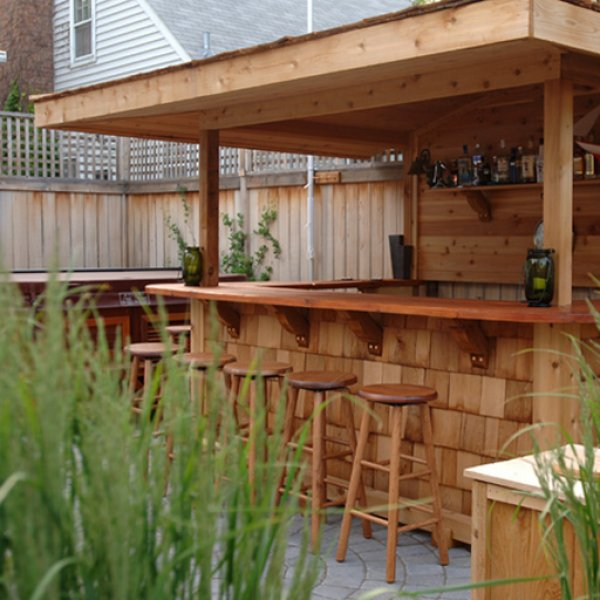 Outdoor Deck Bar Designs Photo