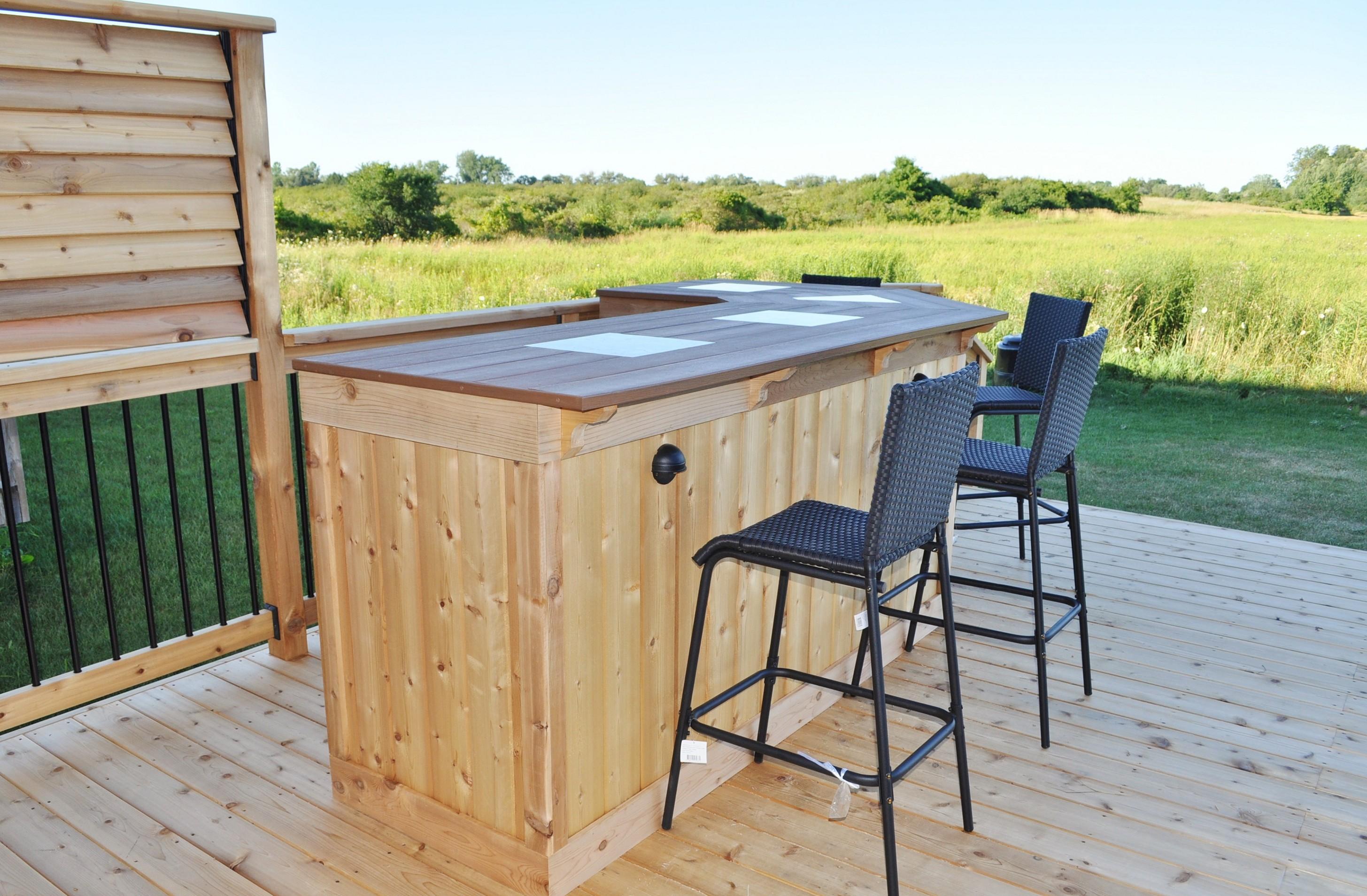 outdoor deck bar designs photo - 8