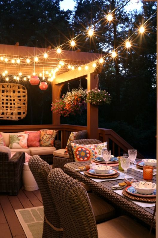 outdoor deck party lights photo - 10