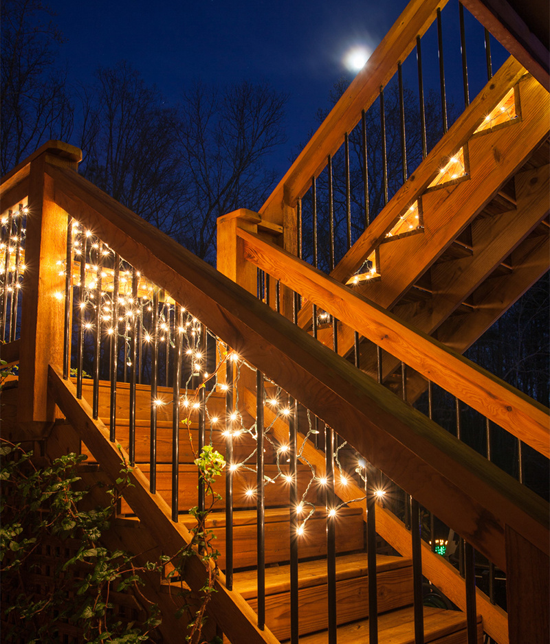 outdoor deck party lights photo - 3