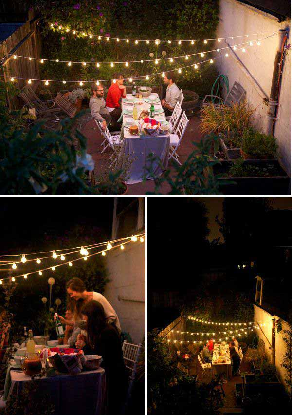 outdoor deck party lights photo - 6