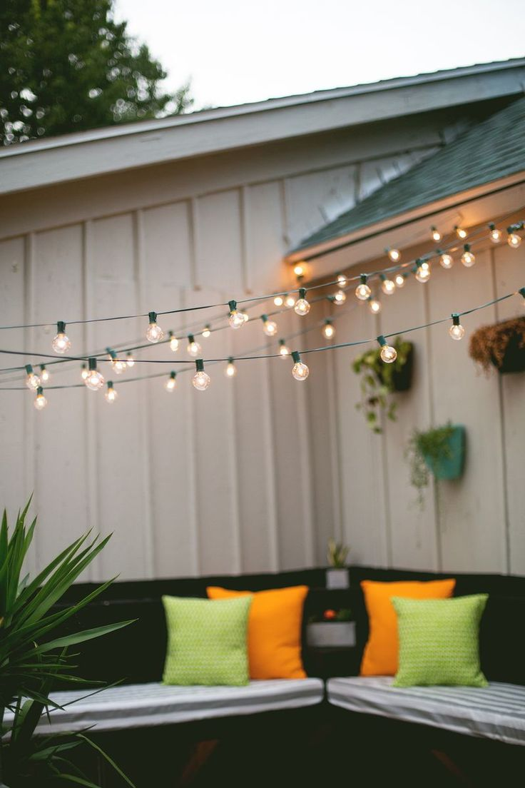 outdoor deck party lights photo - 8