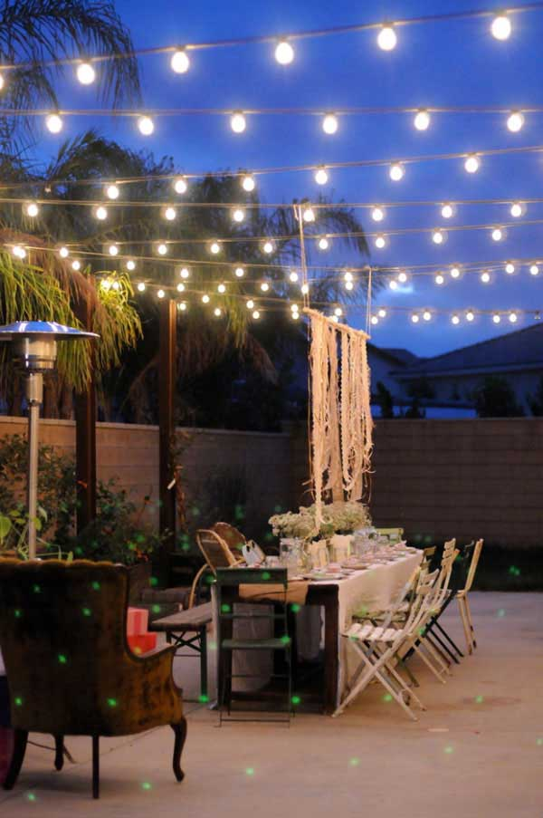 outdoor deck party lights photo - 9