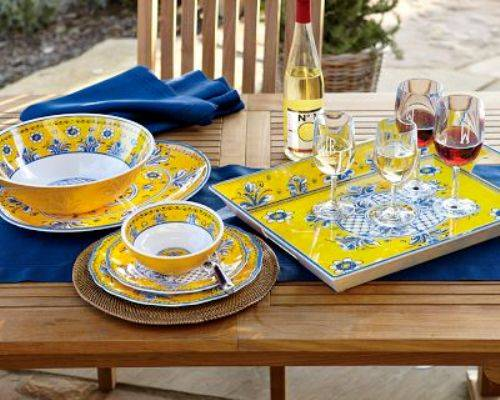 outdoor dining plate sets photo - 10