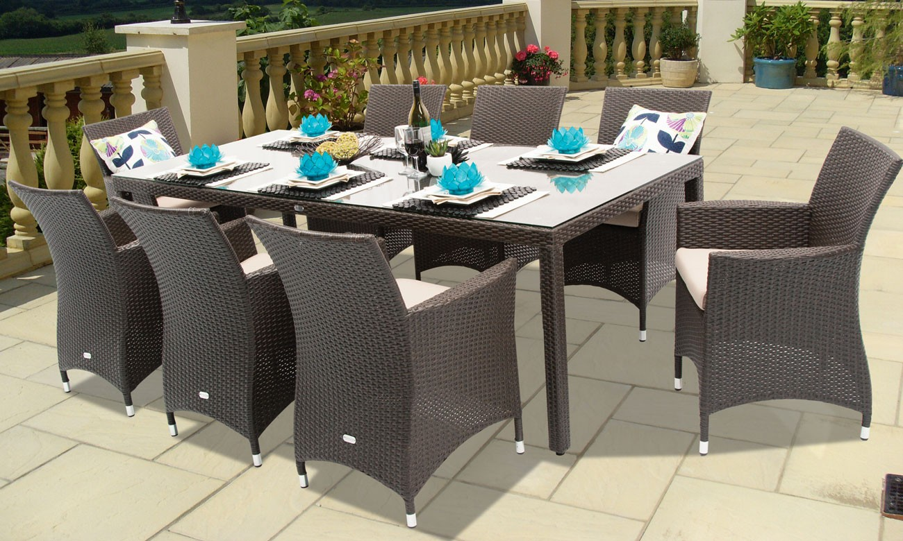 outdoor dining plate sets photo - 7