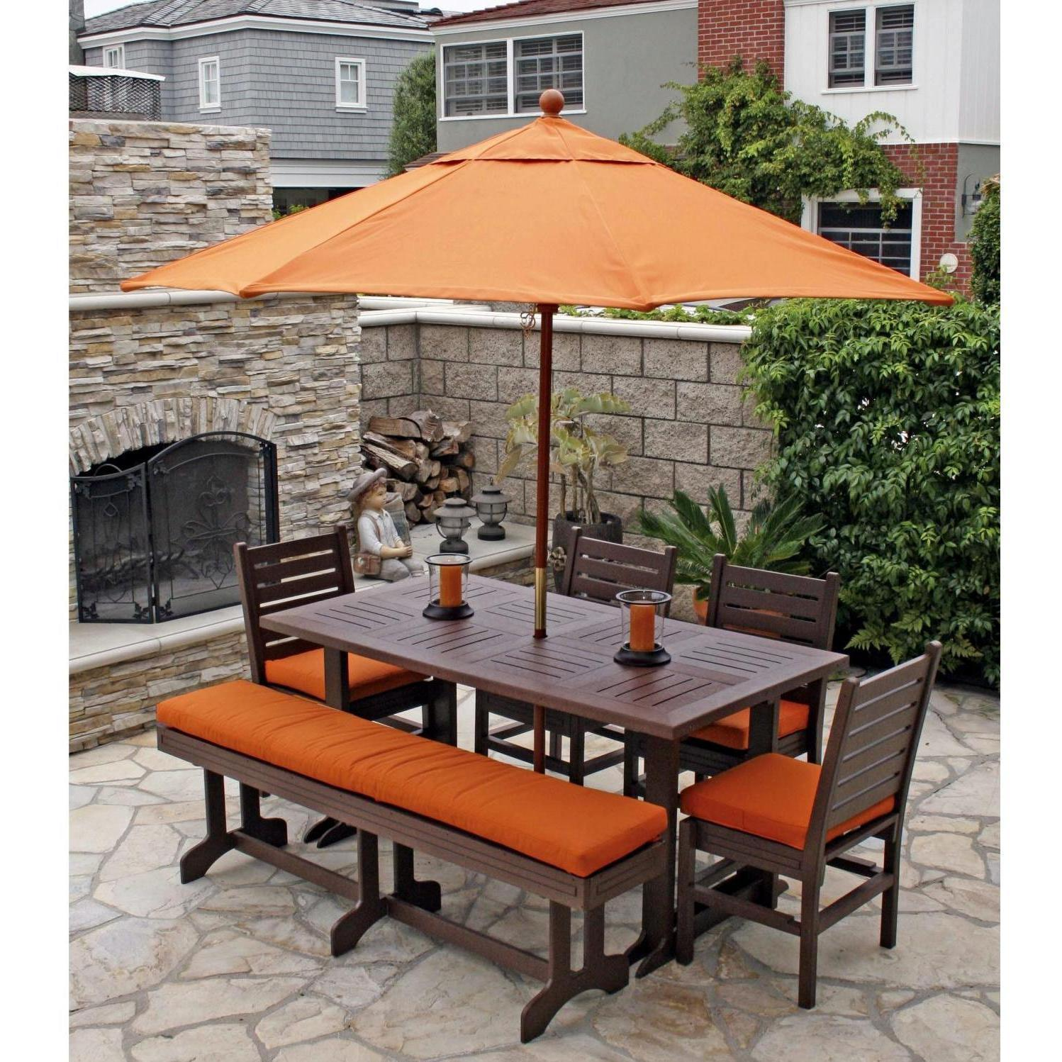 outdoor dining sets benches photo - 1