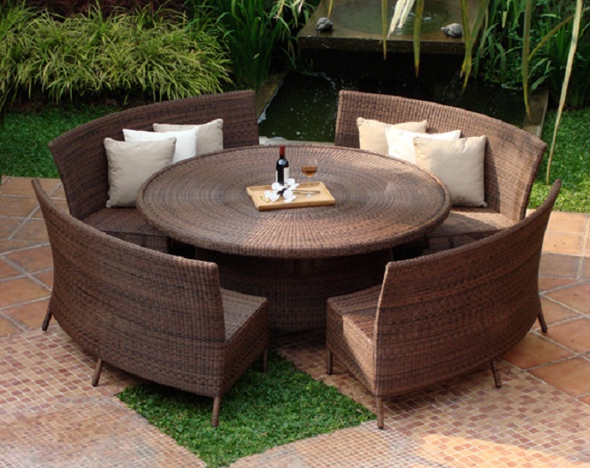 outdoor dining sets benches photo - 10