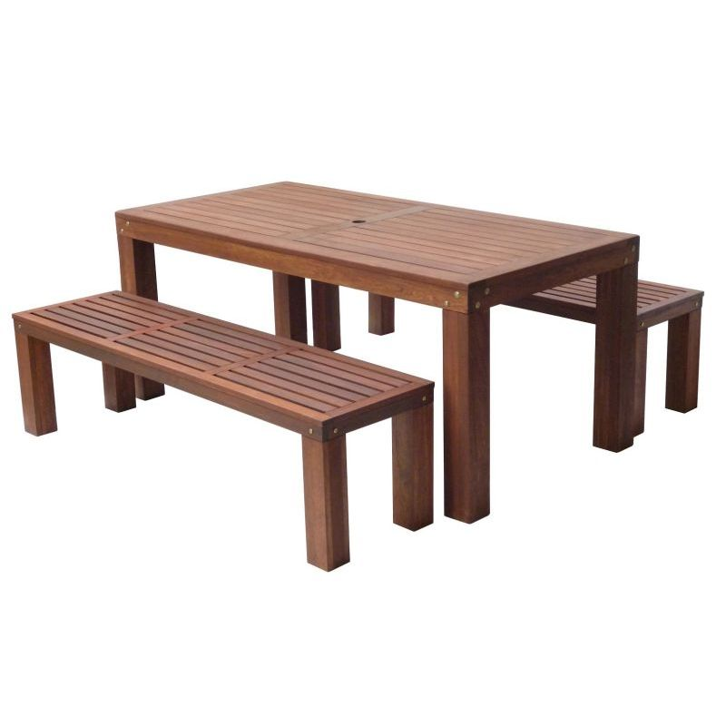 outdoor dining sets benches photo - 4