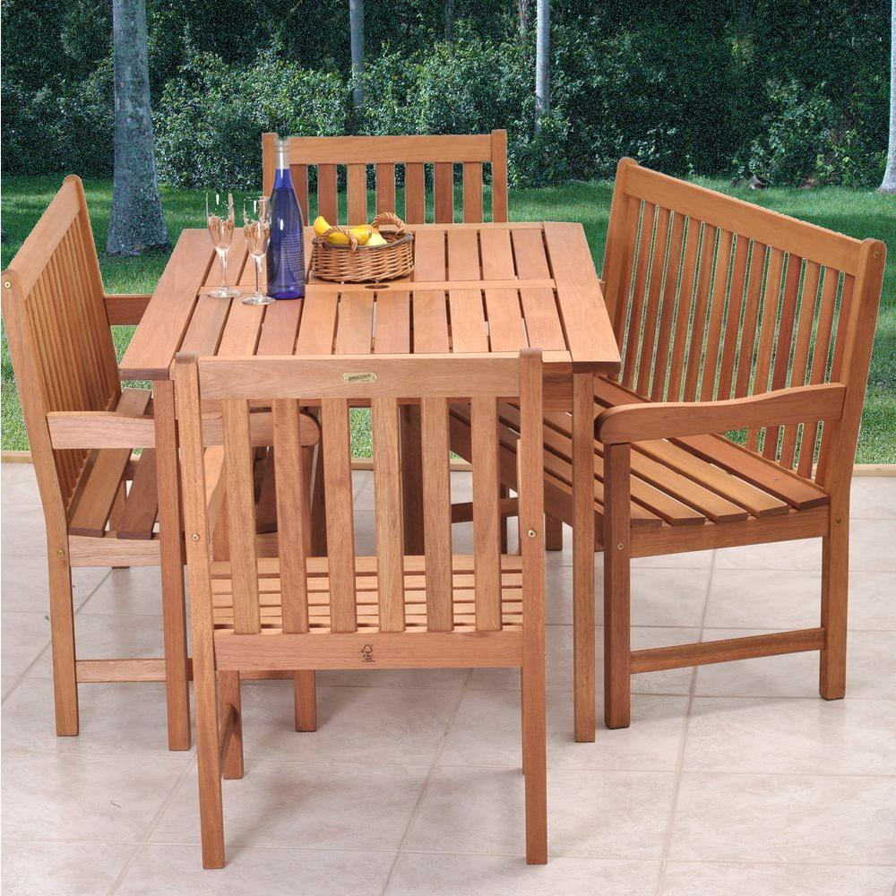 outdoor dining sets benches photo - 6