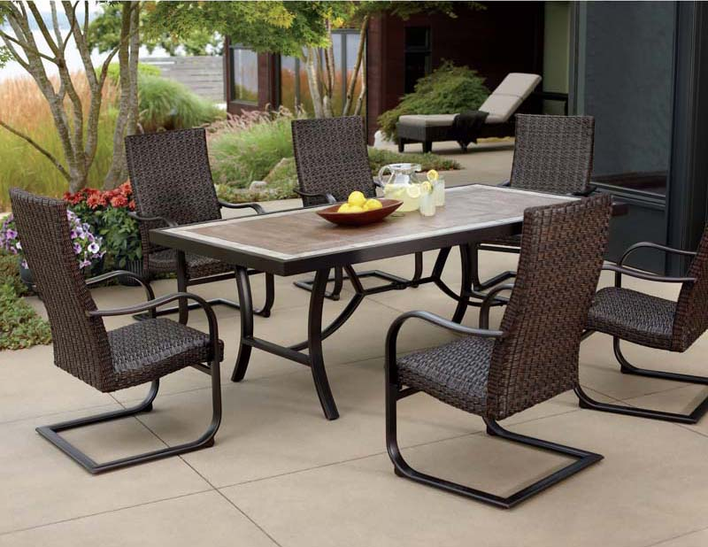 outdoor dining sets benches photo - 7