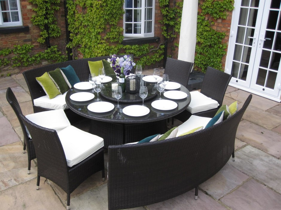 outdoor dining sets for 12 photo - 10
