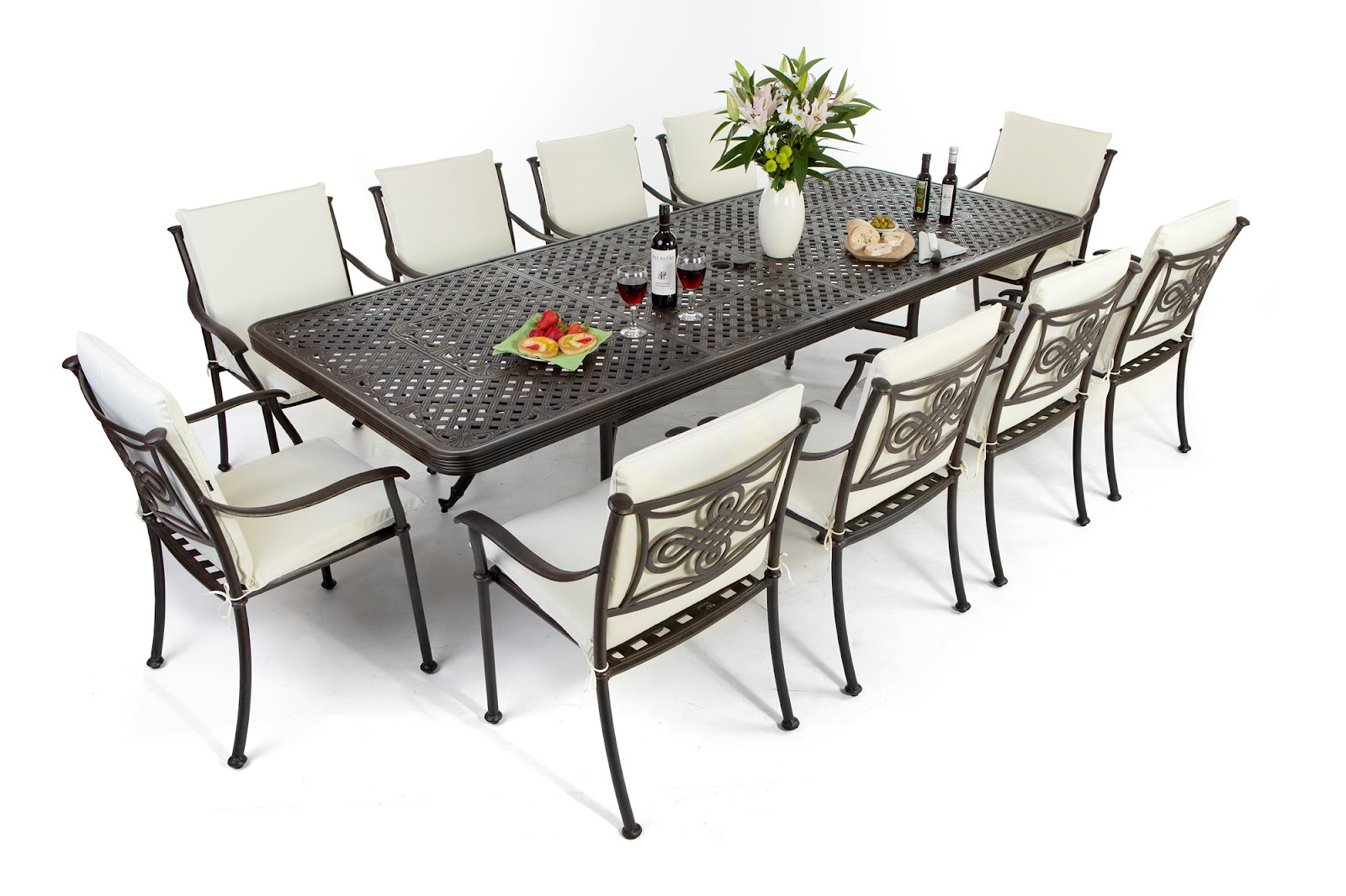 Outdoor Dining Sets For 12 Hawk Haven