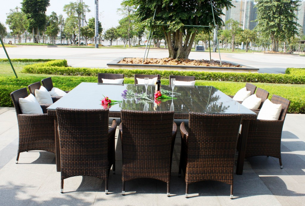outdoor dining sets for 12 photo - 5