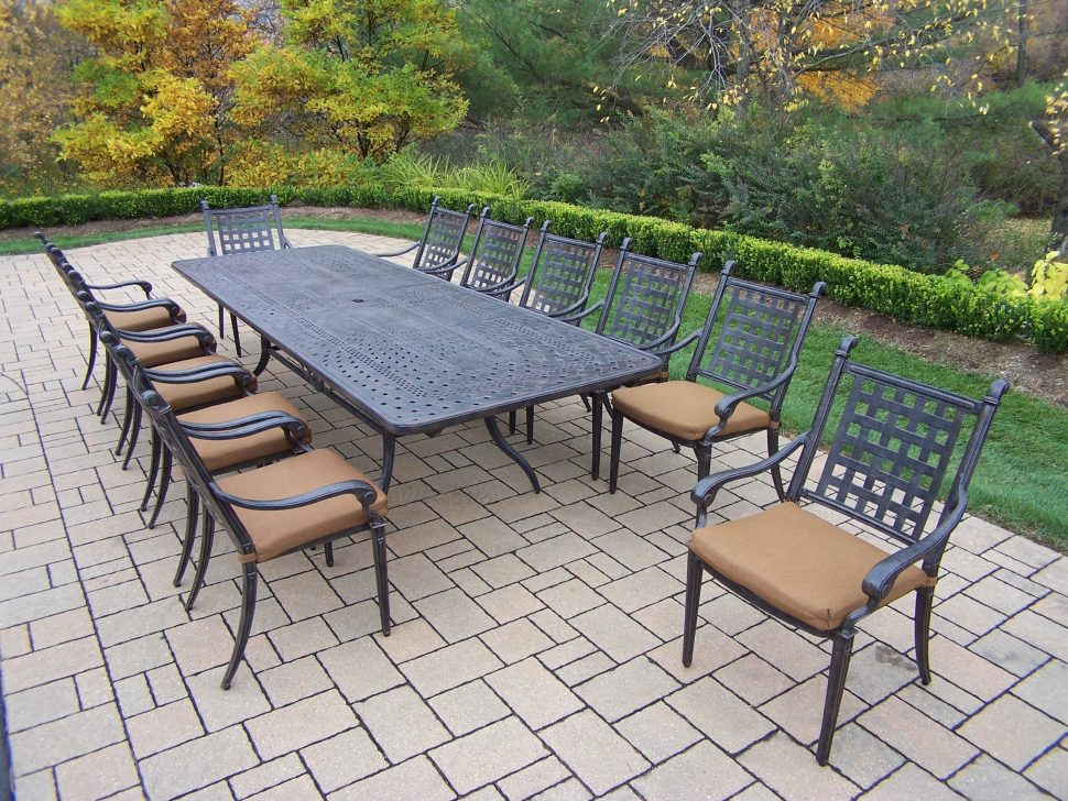 outdoor dining sets for 12 photo - 7