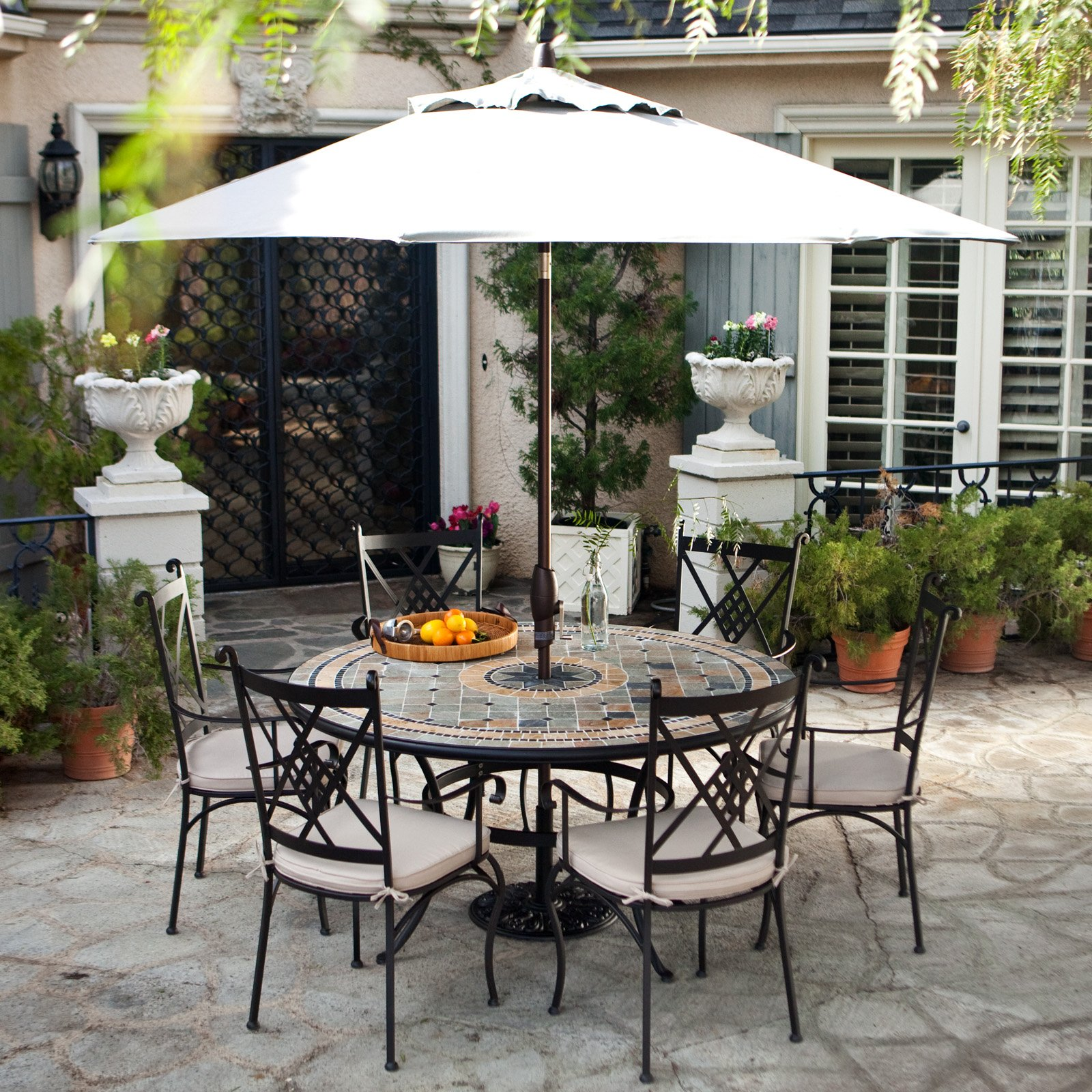 outdoor dining sets iron photo - 8