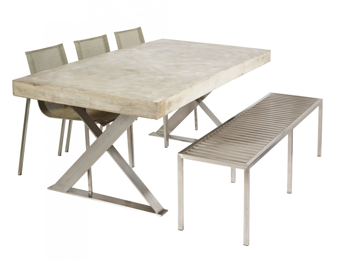outdoor dining table base photo - 8