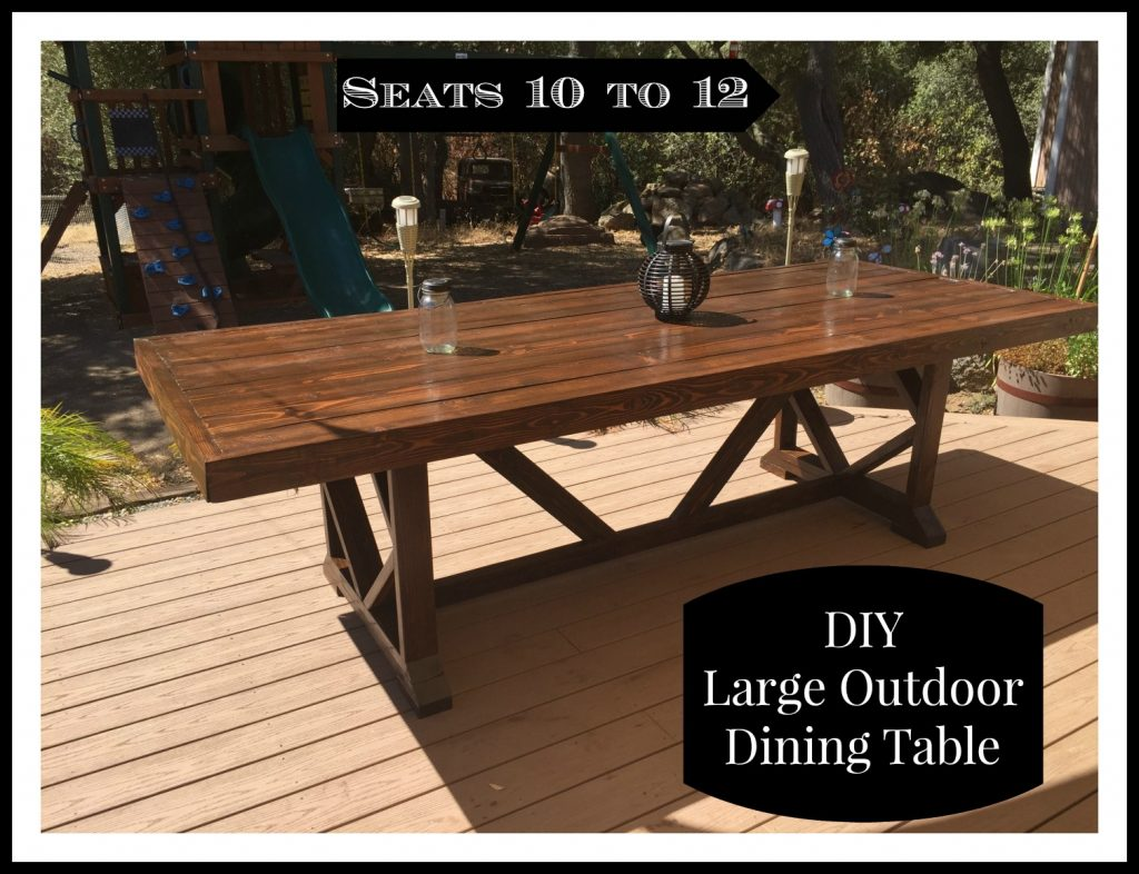 outdoor dining table diy photo - 5