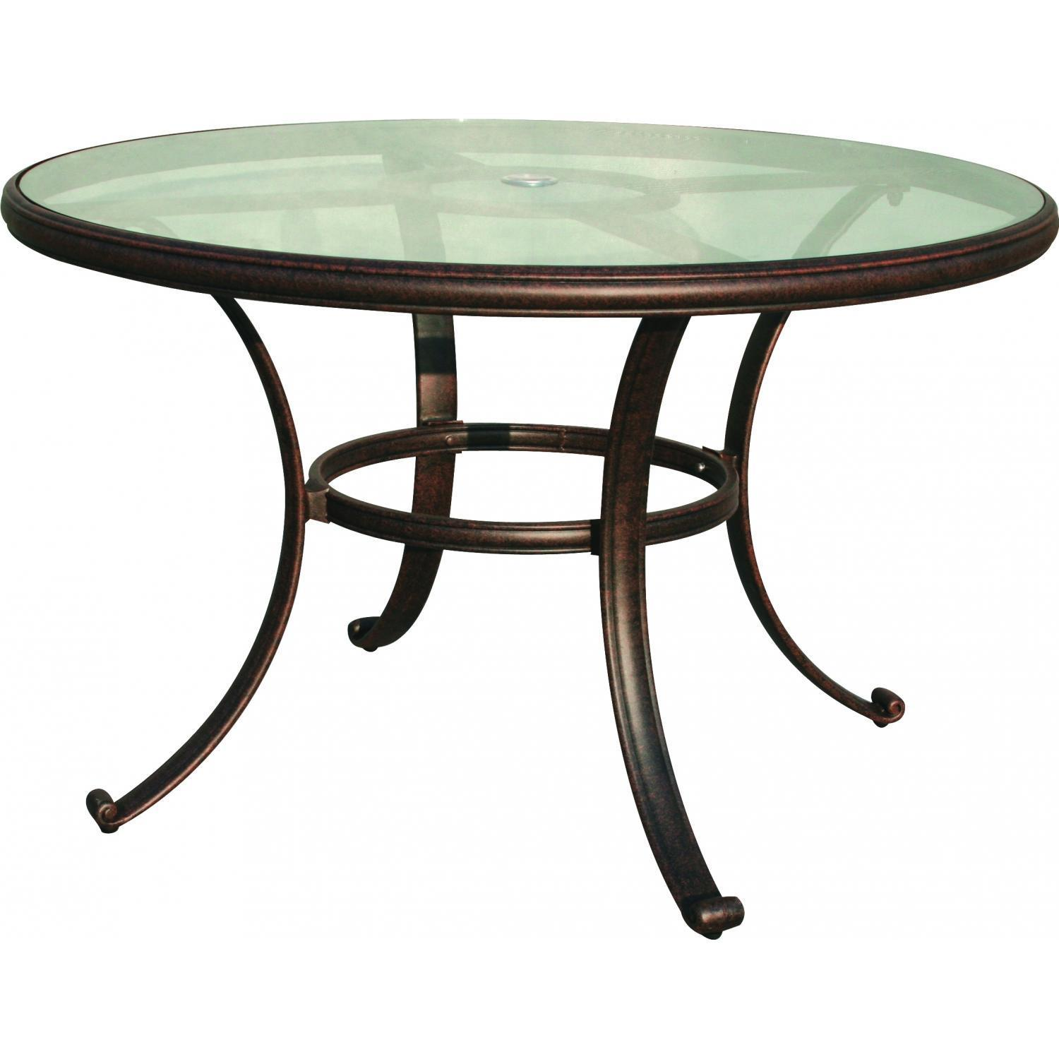 outdoor dining table glass top photo - 1