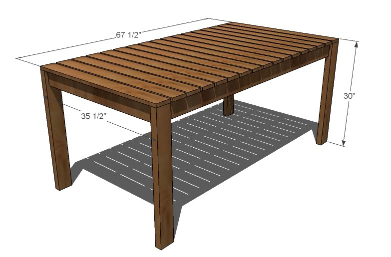 outdoor dining table plans photo - 1