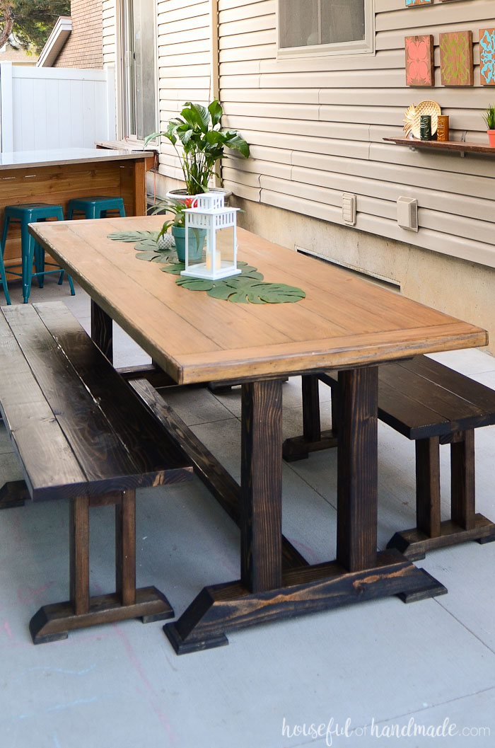 outdoor dining table plans photo - 5