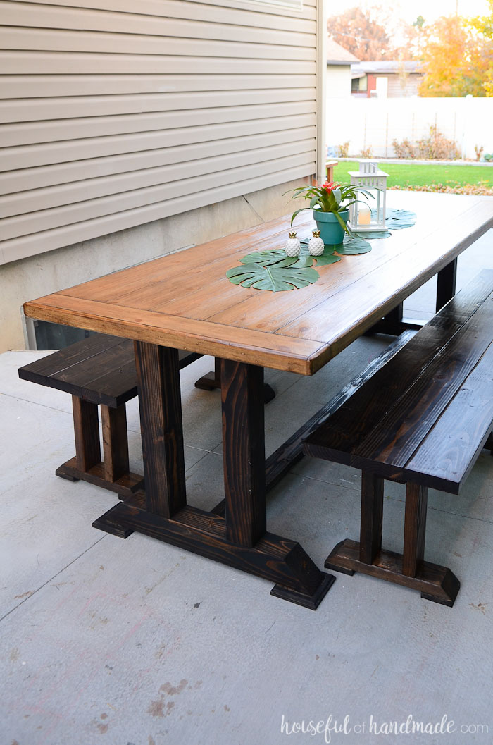 outdoor dining table plans photo - 7