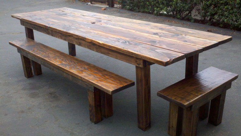 outdoor dining table plans photo - 8