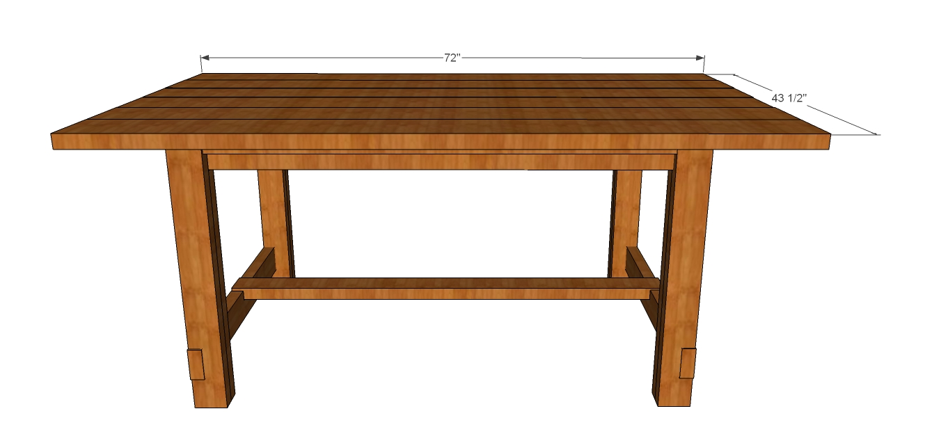 outdoor dining table plans photo - 9