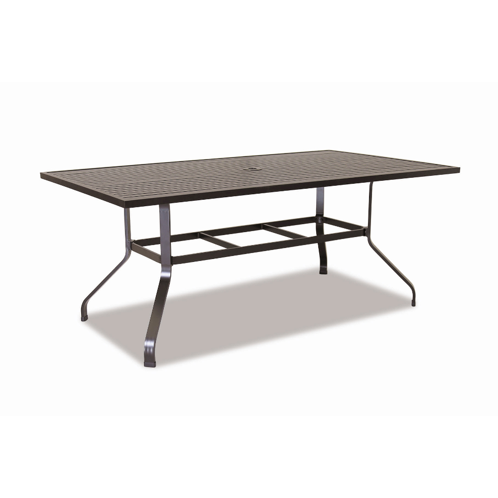 outdoor dining table with grill photo - 7