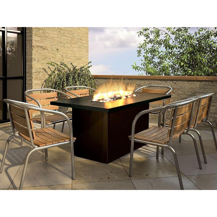 outdoor dining tables with gas fire pit photo - 1