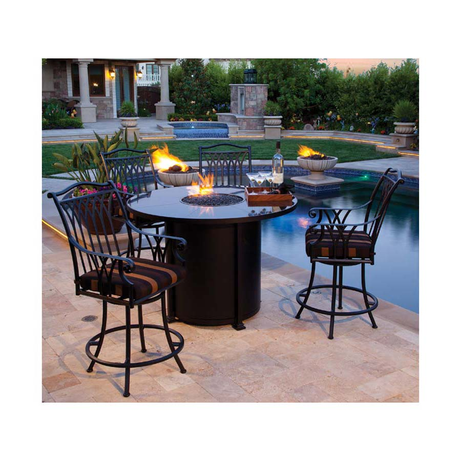outdoor dining tables with gas fire pit photo - 8