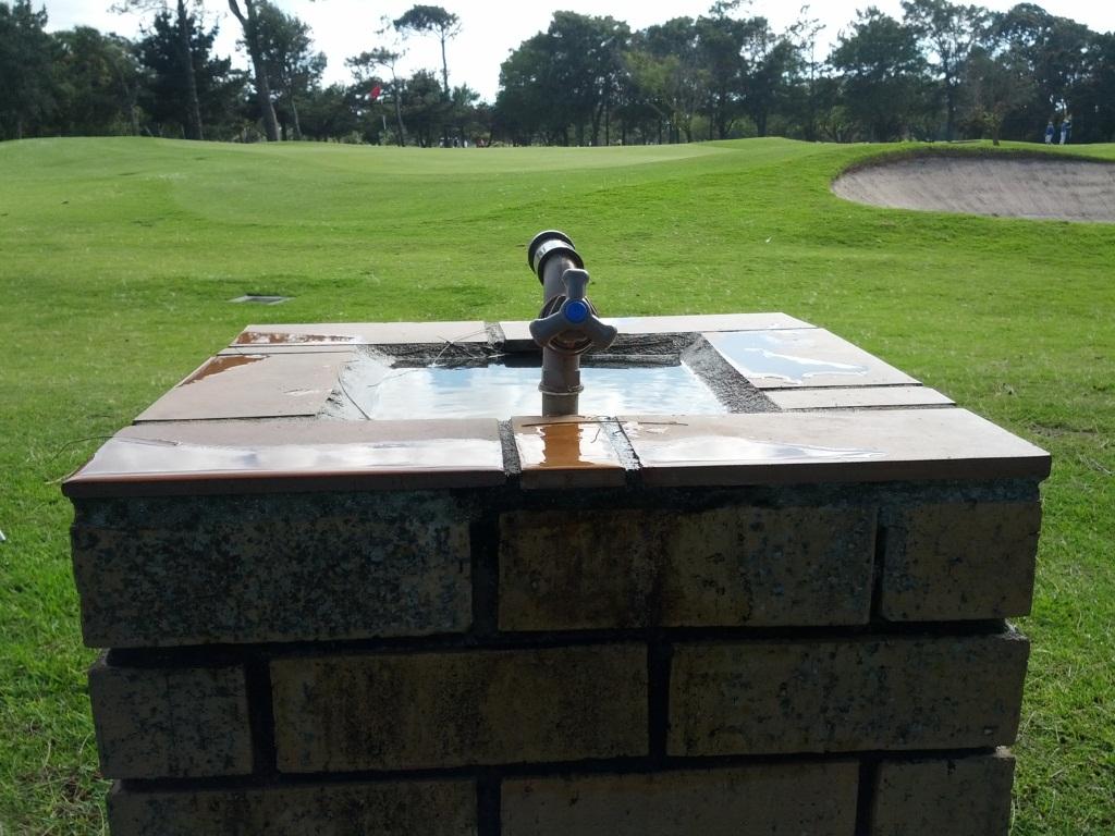 outdoor garden drinking fountain photo - 1