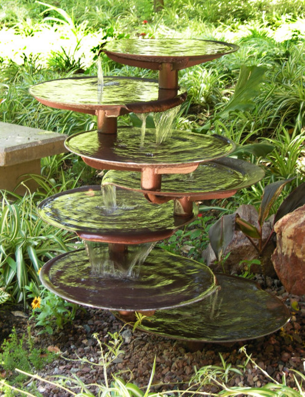 outdoor garden drinking fountain photo - 6
