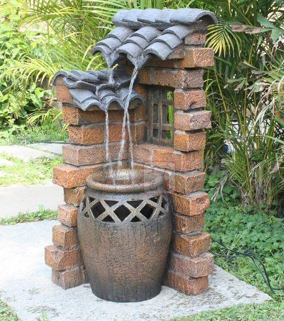 outdoor garden drinking fountain photo - 9