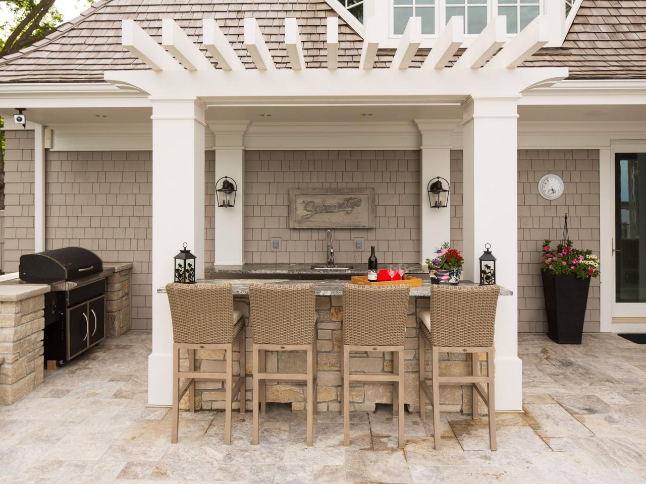 outdoor kitchen and bar designs photo - 2