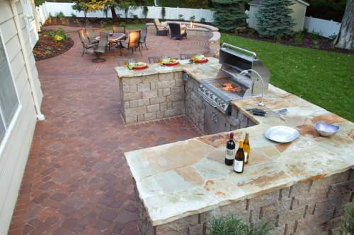 outdoor kitchen and patio omaha photo - 3