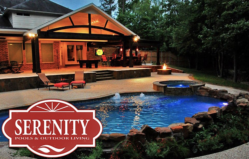 outdoor kitchen and pool photo - 8