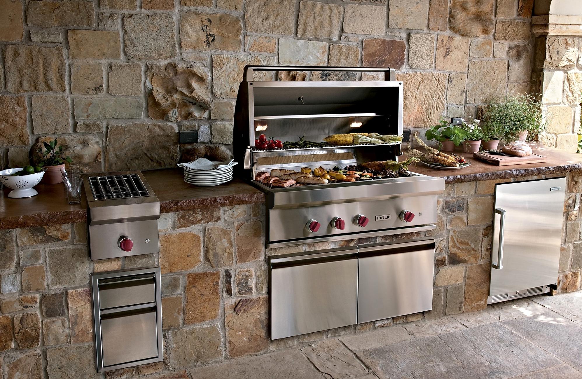 outdoor kitchen appliances photo - 1