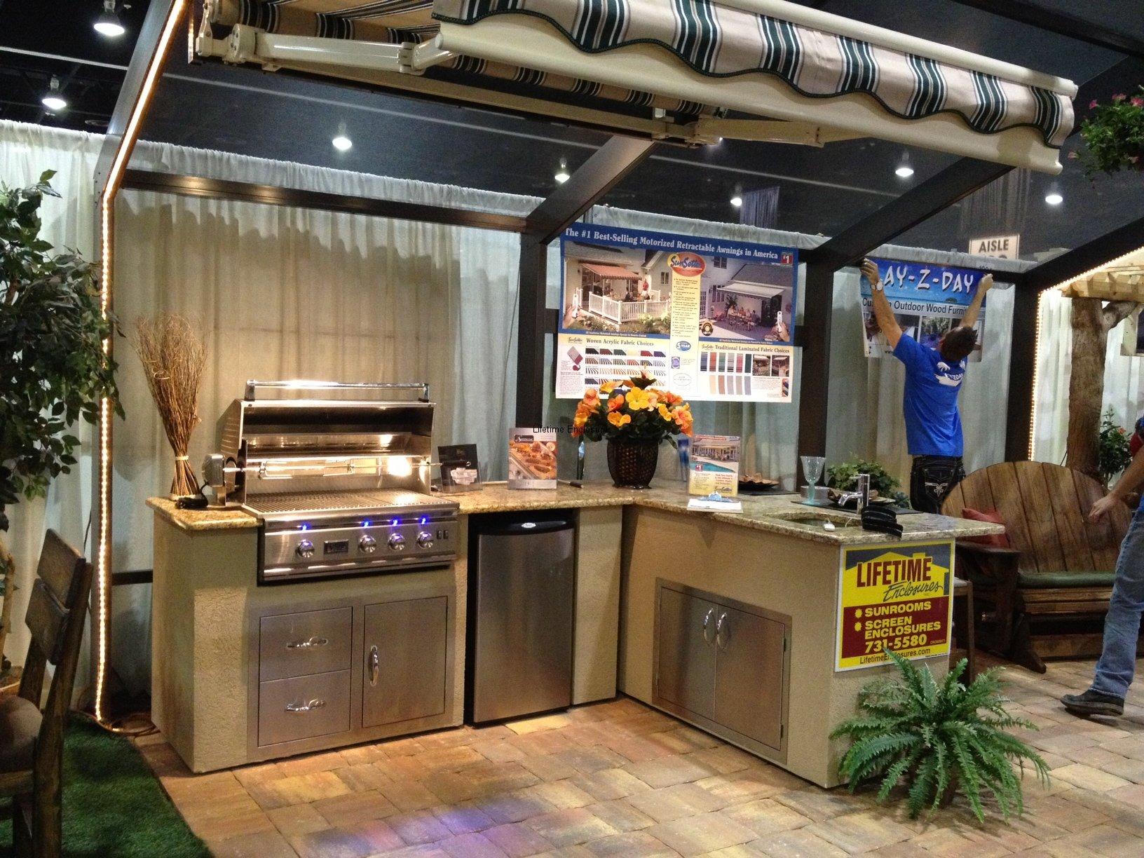 outdoor kitchen enclosures photo - 1