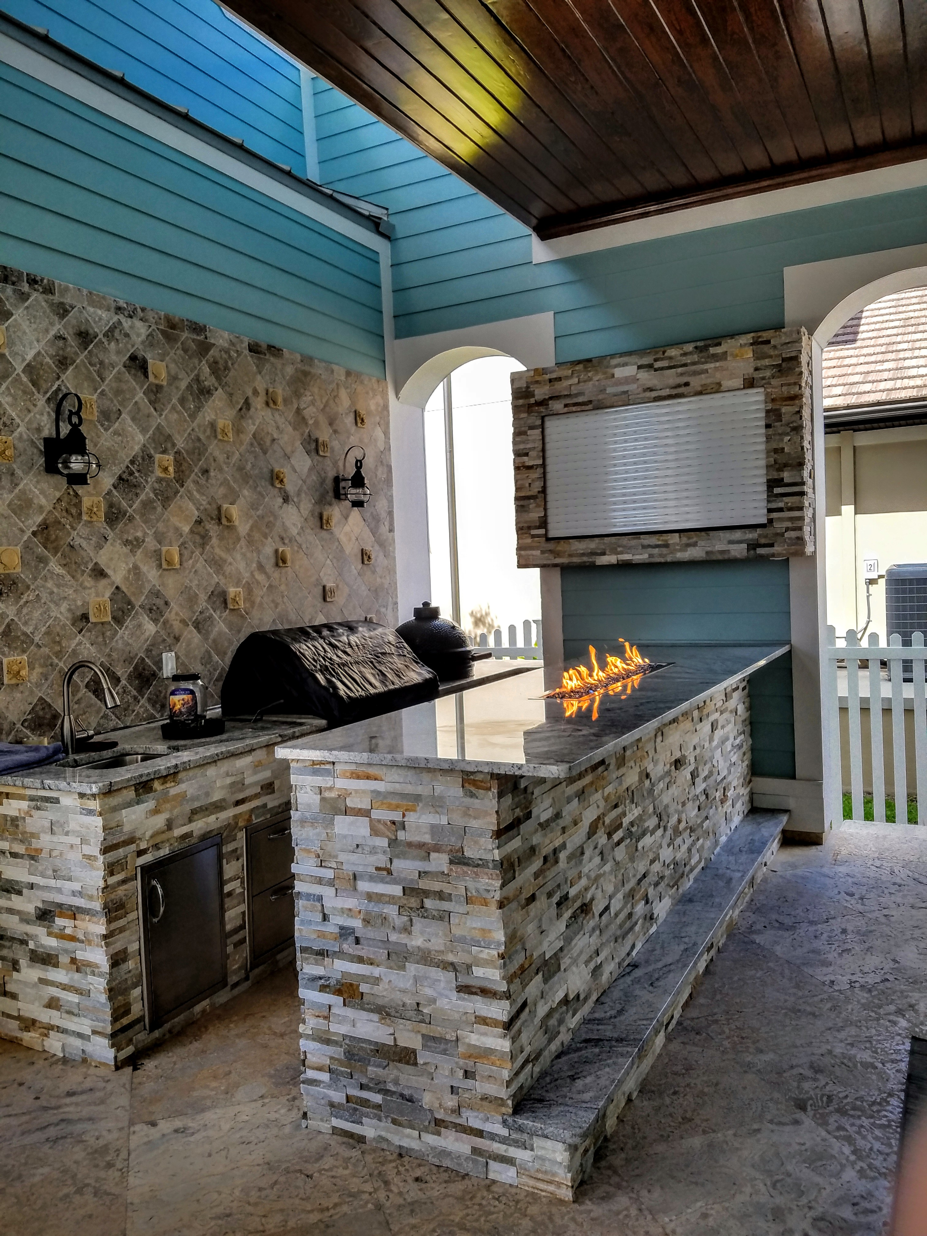 outdoor kitchen enclosures photo - 6