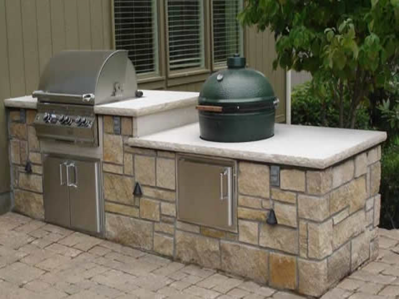 outdoor kitchen frame kit photo - 10