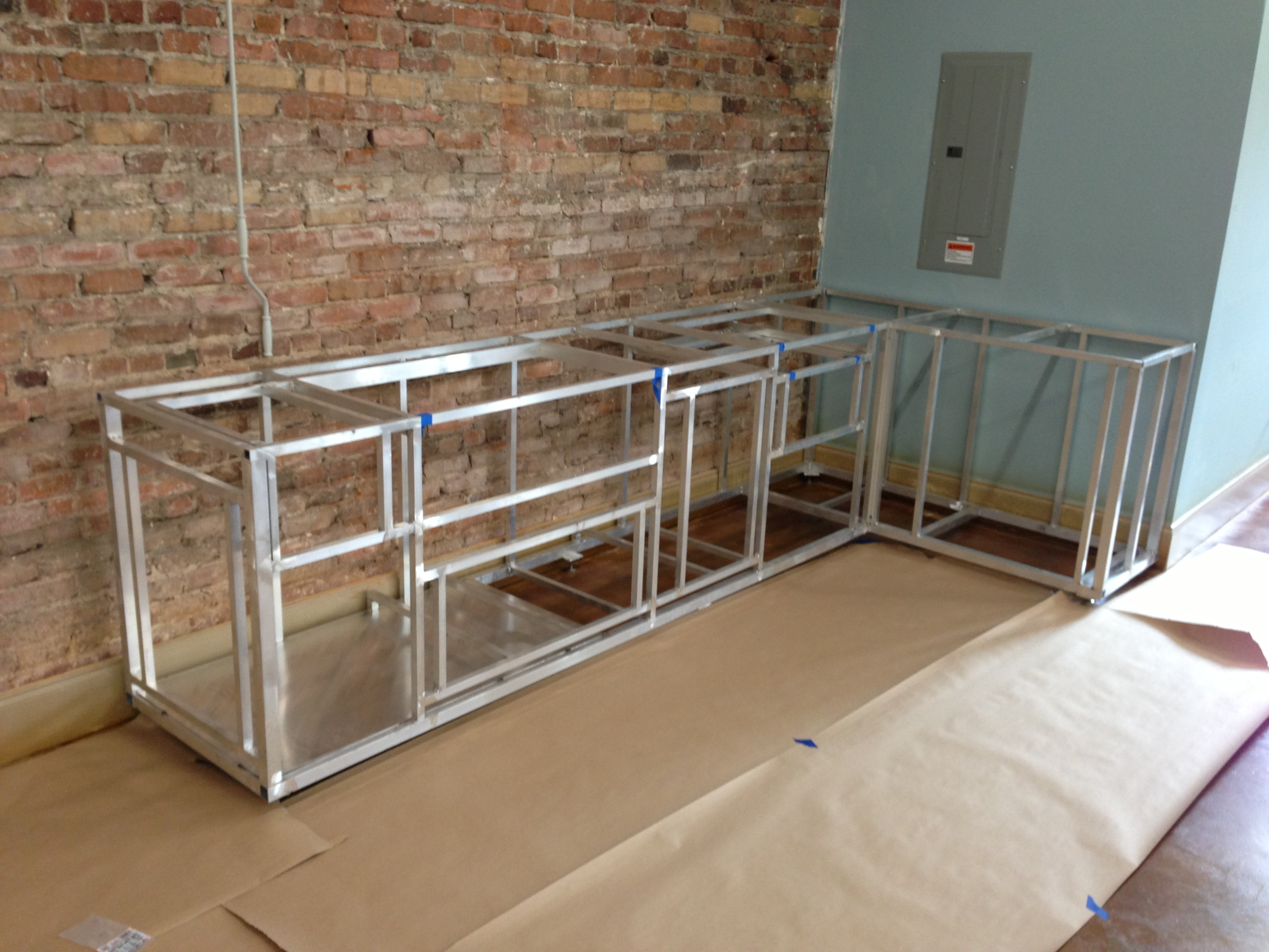 outdoor kitchen frame kit photo - 2