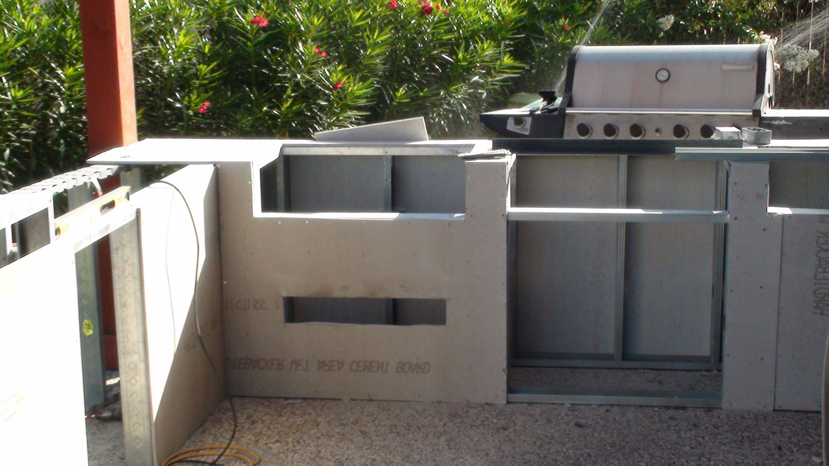 outdoor kitchen frame kit photo - 4
