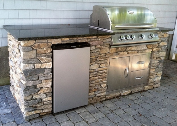 outdoor kitchen frame kit photo - 9
