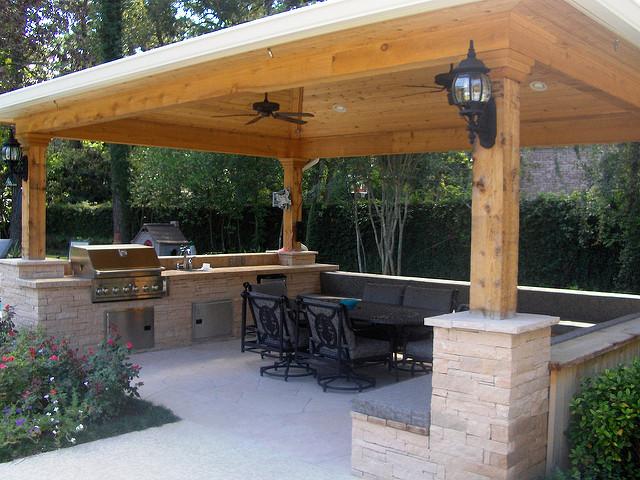 outdoor kitchen gazebo photo - 1