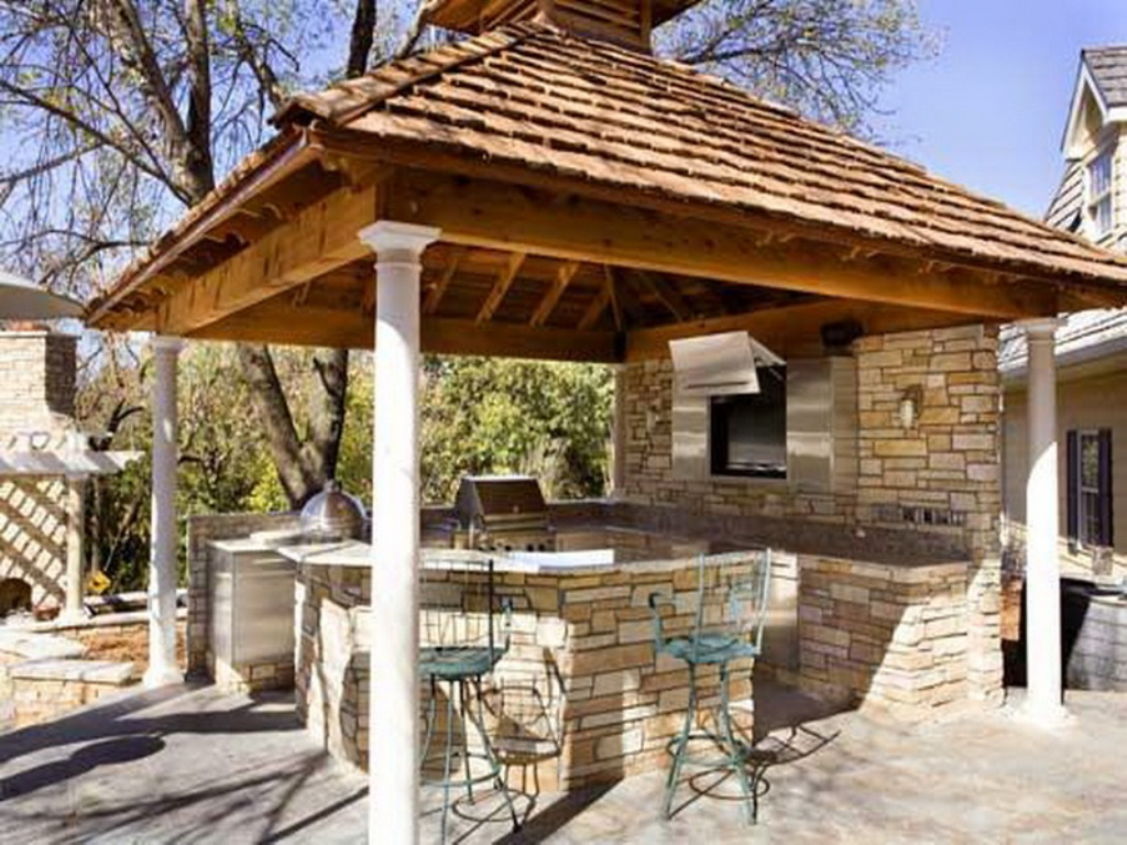 outdoor kitchen gazebo photo - 2